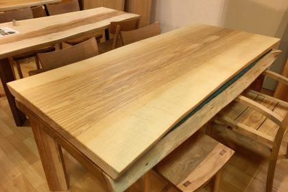 ホワイトアッシュ一枚板テーブル 飛騨の家具 木匠舘マイドゥ
