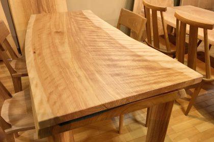 一枚板テーブル カバ 樺 国産 ダイニングテーブル