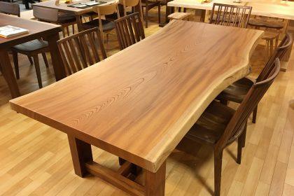 欅(ケヤキ)一枚板テーブル(銘木賞受賞材)