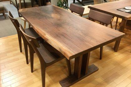 ブラックウォールナット 一枚板テーブル 木匠舘マイ・ドゥ 無垢テーブル