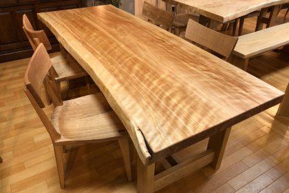 樺 カバ 一枚板テーブル 飛騨の家具 木匠舘マイドゥ