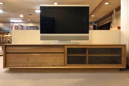 Campbell キャンベル TVボード180 無垢 タモ材 ナチュラル 北欧 AVボード 木匠舘マイドゥ
