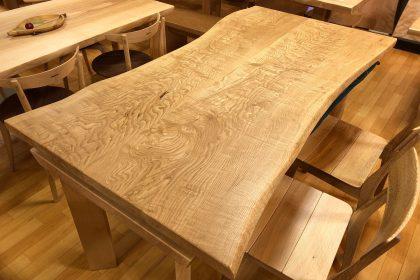 クリ 栗 一枚板テーブル 飛騨の家具 木匠舘マイドゥ