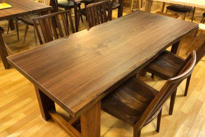 ブラックウォールナット 一枚板テーブル 飛騨の家具 木匠舘マイドゥ 無垢テーブル