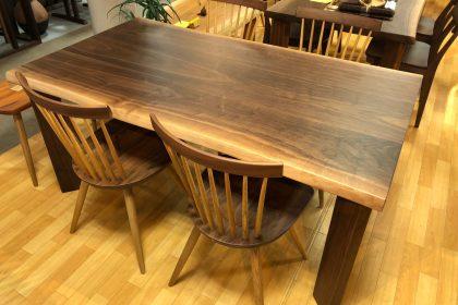 飛騨の家具 ブラックウォールナット 一枚板 無垢 テーブル 木匠舘マイドゥ