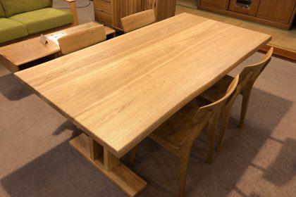 飛騨の家具 楢 ナラ タモ 一枚板 耳付き無垢 テーブル 木匠舘マイドゥ