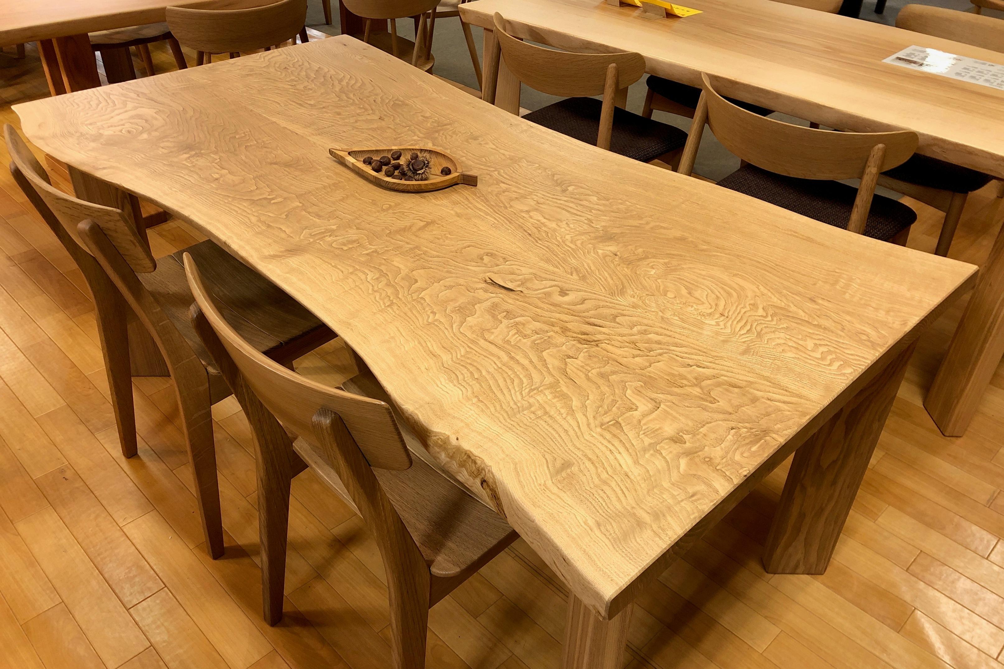 飛騨の家具 セール フェア 一枚板 耳付きテーブル クリ 栗 無垢 天然木 木匠舘マイドゥ