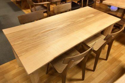 飛騨の家具 一枚板 無垢テーブル 天然木 ダイニングセット ホワイトアッシュ 大阪 木匠舘マイドゥ