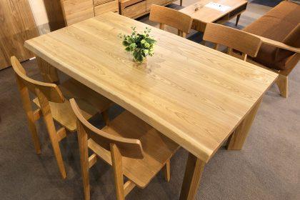 アッシュ タモ 一枚板テーブル 飛騨産業 飛騨の家具 無垢 天然木 枚方家具団地 木匠舘マイドゥ