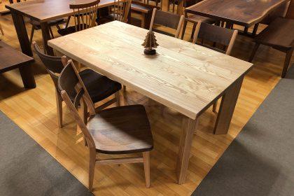 飛騨の家具 アッシュ タモ 一枚板テーブル 国産 枚方家具団地 大阪 木匠舘マイドゥ