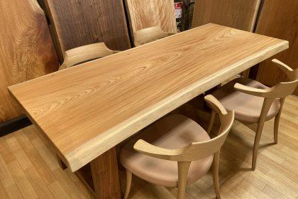 飛騨の家具 欅 ケヤキ 一枚板テーブル枚方家具団地 木匠舘マイドゥ